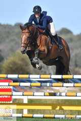 Melissa Blair from NSW rode Gigant Z to second place in the Leader Equine Future Stars.