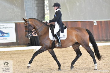 Abbie O'Brien riding Revelwood Fleur took fifth place in the FEI Intermediate I CDN.