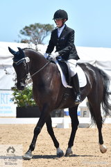 Anne Skinner rode Rosanna Drysdale's, Kerradale Futurepop to fourth place in the Individual Test Grade 3 CPEDI.