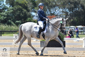 Victoria Davies rode her stallion, Andaluka Elegido to win the Individual Test Grade 2 CPEDI.