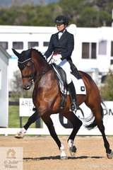 Lone Jorgensen rode Pauline Carnovale's, Corinna to third place in the FEI Grand Prix Special CDI3*, scoring 69.36%.