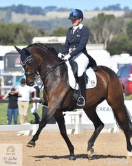 Mary Hanna rode Syriana to win  the FEI Grand Prix Special CDI3*, scoring 70.298%.