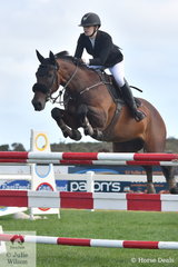 Courtney Bell riding Patangas Casio took fourth place in the Pryde's Easifeed Young Rider Championship.