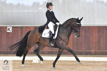 Charlie Welsh rode Horizonte de Jeu to third place in the Freestyle Young riders CDIY.