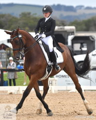 Lindsey Ware rode Aristede to win the FEI Grand Prix Freestyle CDIU25 scoring 74.50%.
