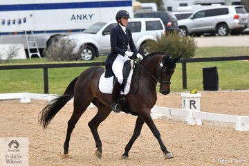 Sienna Hawkins rode Tallyho Something Saintly to third place in the FEI Grand Prix Freestyle CDIU25