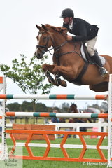 Russell Morrison riding Ce Cajun took fifth place in the Martin Collins Australia Mini Prix.