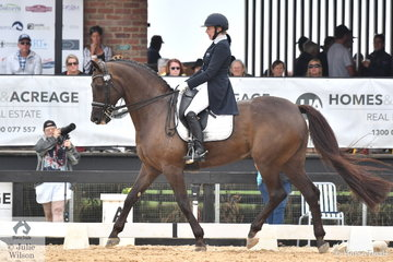 Rozzie Ryan rode J and H Bevan's, Jarrah R to third place in the IRT FEI Grand Prix Freestyle CDI3* scoring 72.29%.