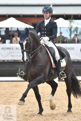 John Thompson rode his impressive young stallion, JHT Chemistry to second place in the IRT FEI Grand Prix Freestyle CDI3* scoring 72.69%.