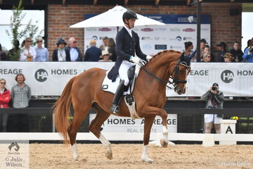 Riley Alexander has had a great weekend with G, J, and K Farrell's, Larenso. Today Riley won in the IRT FEI Grand Prix Freestyle CDI3* scoring 72.77%, just 0.9 ahead of his good friend John Thompson.