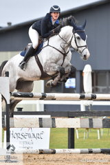Kate Hinschen from NSW jumped a clear round riding Oaks Ventriloquist in the Open 130cm Art. 238.2.1.