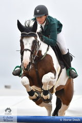 Popular, race horse trainer, show jumper and mum, Kate Beadel just had four faults riding Lily Elmare in the Open 130cm Art. 238.2.1.