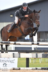 Well know showjumping rider and accountant, Tim Clarke rode Diarrit in the Open 130cm Art. 238.2.1.