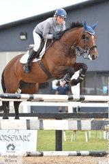 Equestrian professional, Sue Coman rode Lizetta in the Open 130cm Art. 238.2.1.