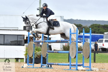 Professional rider, Megan Joyce rode Blackall Park Cha Cha to 10th place in the Open 130cm Art. 238.2.1.