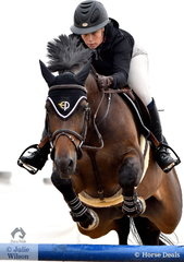 Isabella Evans from NSW jumped a nice clear round aboard Joker for 7th place in the Open 130cm Art. 238.2.1.