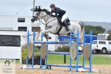 Chloe Dennison rode a nice clear round aboard Cera Bonita in the Open 130cm Art. 238.2.1. for ninth place.