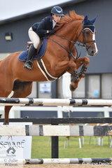 Nicolette Evans from NSW rode Crispi in the Open 130cm Art. 238.2.1.