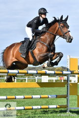 Tessa Cook rode a fast four fault jump off round aboard Rimfire Park Vogue in the Future Stars. They finished in eighth place but with good performances over the two weekends, Vogue was declared Champion Future Stars Horse.