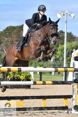 Courtney Bell rode Patangas Casino  to second place in the Young Rider Championship.