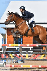 Jasmine Dennison rode Mabobri De Mabribo to fifth place in the Young Rider Championship.