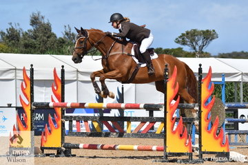 Local well known equestrian personality, Sharon Ridgeway jumped a double clear round riding her delightful King Vassie in the OTT Championship.