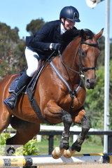 Sarah Moody rode the Encosta de Lago gelding, Hanks who won $385,000 as a race horse, in the OTT Championship.
