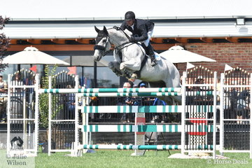 Billy Raymont rode Anssioso Z (seen here) to fifth place in the World Wetlands Day World Cup Qualifier. He also rode the well performed Anton to fourth place, with both horses finishing on four faults after the two rounds.