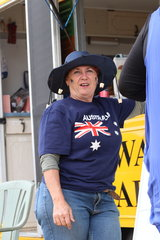 Local Lesa Van Uitert enjoying the spirit of Australia Day.