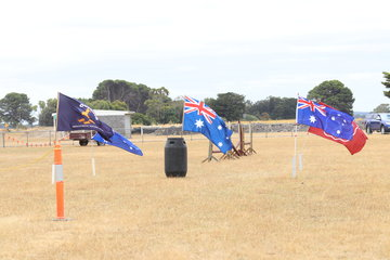 Some of the obstacles to help celebrate Australia Day.