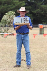 Wayne Field with one of the beautiful hand crafted trophy by Toni Greenwood.