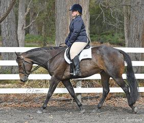 Alison Morgan riding Im Good N Lazy, in the Senior Horse Hunter Under Saddle class