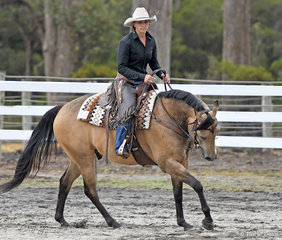 Stacey James and Uwish For This Image in the All Age Ranch Riding Feature.