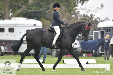 Hanna Bufton is pictured working out during the class for Child's Large Hack riding her wonderful and well performed, 'Towering Inferno'.