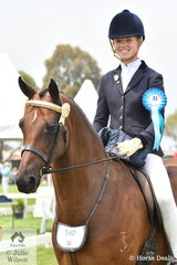 Felicity Sutherland rode 'Valerius Waltermeyer' to be the delighted winner of the 2020 Peter Gahan Trophy. The late Peter Gahan was instrumental in the foundation of the Barastoc Show over 51 years ago.