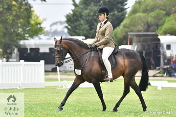 Haylee Adams rode her, 'Yabba Lodge Simba' to make Top Ten in the Child's Large Show Hunter Pony Championship.
