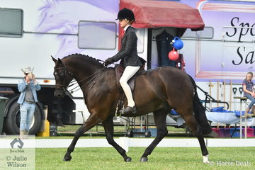 Ebonie Lee rode Holly Tiechurst's well performed, 'Terra Felix XL' to claim the Child's Large Show Hunter Galloway Championship.