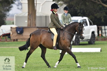 Amelia Petrie rode Bree Petrie's nomination, the very well performed, 'Raleigh Picture Perfect' to claim the Child's Medium Show Hunter Pony Reserve Championship.
