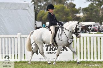 Sabrina Gilmour  riding 'Yurrugar Supermodel' was declared 2020 Barastoc Champion Junior Rider.