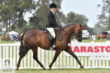 Ava Halloran rode Arielle Stella's, 'Kolbeach Holly's Knowing' to make Top Ten in the strong Large Galloway Championship.