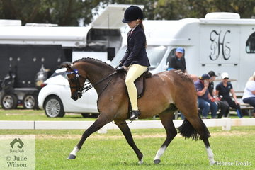 Zara Missen rode Ala Frankcom's, 'Rocky Hill Prince Charming' to claim the Medium Pony Reserve Championship.
