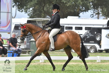 Briony Randle, apparently tireless, rode Sonja Reichbauer's, 'Carlingford Double Jeopardy' to claim the Barastoc 2020 Large Pony Reserve Championship.