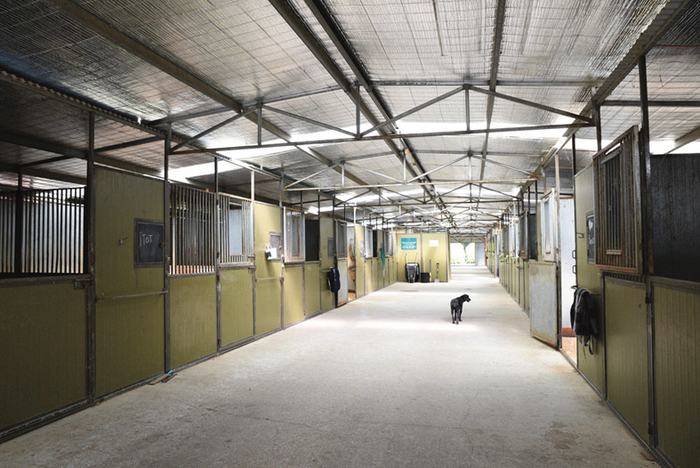 The main barn has 26 boxes and eight have been converted into private tack rooms.