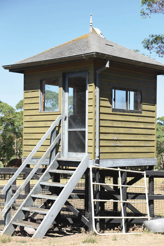 The foaling tower was manned 24 hours a day during the stud's foaling season.