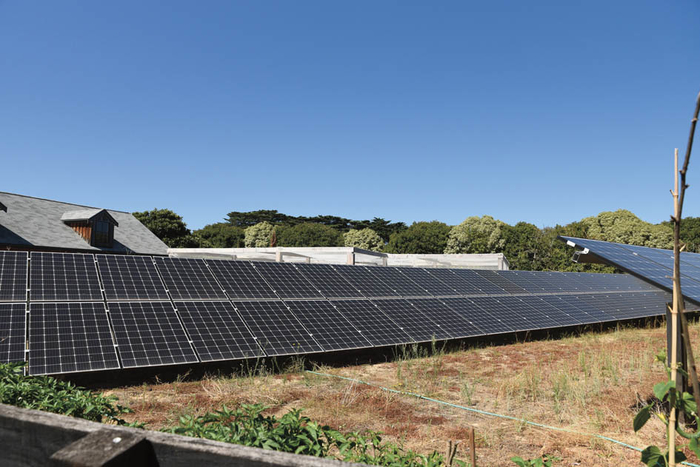 The solar panels provide power back in to the grid and Leisurely Park is constantly in credit for electricity.