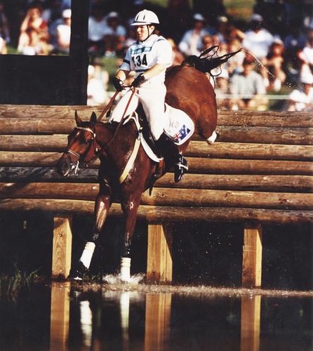 Sunburst into water at the Atlanta Olympics 1996.