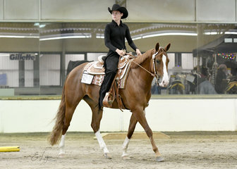 Peta Hicks and Triandibo Naturallynx in the Youth Trail class.