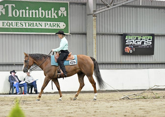 Marion Spencer and Hot N Special, in the ranch versatility  trail Select Amateur.