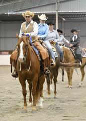 Sara Agnew and Genetically Awesome winning the Amatuer Ranch Riding.