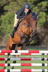 "Claire McDermott in the 95cm Class riding ""Kohdale Vindigo"""